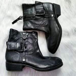 Sam Edelman Black Leather Moto boots 8.5 Kacey